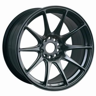 18 XXR 527 BLACK RIMS WHEELS 18x8.75 +35 5x114.3 CIVIC RSX ECLIPSE