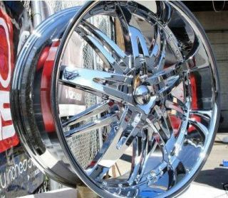 22 Wheels Rims Package Free Tires Bentchi B14 Triple Chrome 5x120