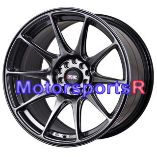 17 XXR 527 Chromium Black Staggered Rims Wheels Concave Stance 5x114 3