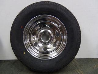 15 inch Tires Chrome Wheels Horse Trailer RV camper Brand New