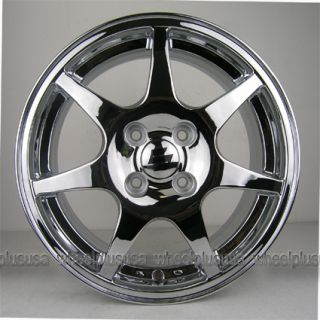 15 Chrome Wheels Rims Acura Integra Honda Civic CRX Del sol Fit Lancer