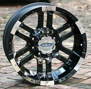 16 inch Black Wheels Rims Moto 951 Chevy GM Truck 8 Lug