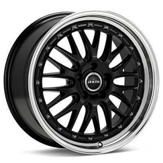 18 Axis Rev Style Black Wheels Rims Staggered Fit Lexus SC300 sc400