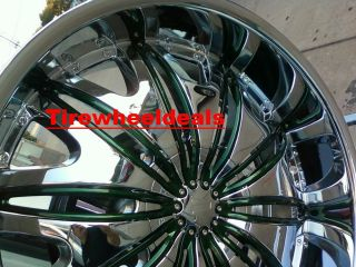 26 inch Velocity V820 Wheels rims Tires fit Chevy Ford Nissan Cadillac