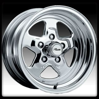 ALLOY 521P DRAGSTAR POLISHED 4X4 25 FORD MUSTANG 4 LUG WHEELS RIMS