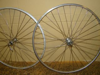 27 inch Road Bike Wheel Set Wolber Rims Maillard Hubs Made in France