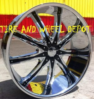 30 INCH DW29 RIMS WHEELS AND TIRES ESCALADE SILVERADO SIERRA TAHOE