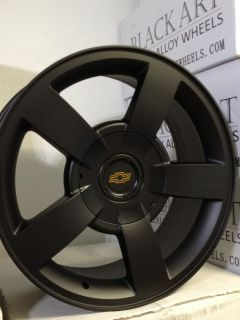 Silverado SS Matte Black Factory OE Replica Wheels Rims 6x5 5