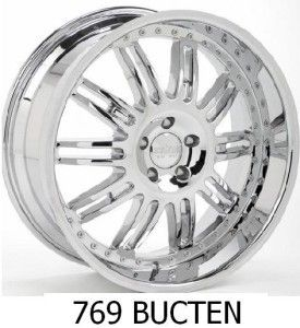 22 inch Rims and Tires Wheels Chrome Starr Bucten 769
