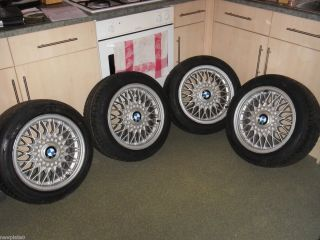 BMW E30 Genuine BBS Alloy Wheels and Tyres 195 50 R15 Fits 3 Series
