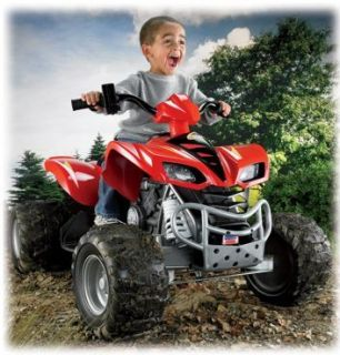 Fisher Price Power Wheels Kawasaki KFX 4 Wheeler ATV