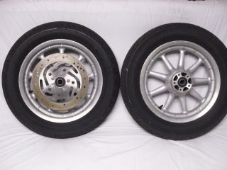 HARLEY SILVER 9 SPOKE TOURING WHEELS RIMS TIRES ULTRA STREET ROAD