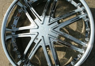 LUPUS 981 20 CHROME RIMS WHEELS CADILLAC DTS 06 13 / 20 x 8.5 5H +38