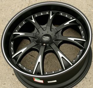 Panther EVO 907 20 Black Rims Wheels Benz ML320 ML350 ML500 20 x 8 5