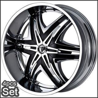 22 Diablo Wheels Rims for Chevy Ford Dodge RAM Tahoe F150 Expedition