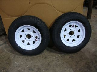 15 Utility Boat Trailer Wheels Tires New White Spoke 205B