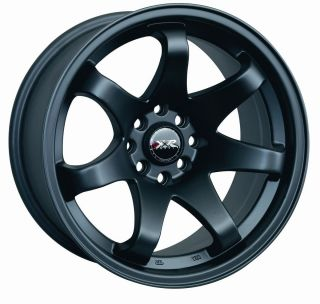 15 XXR 522 BLACK RIMS WHEELS 15x8 +0 4x100 MAZDA MIATA SCION XB BMW