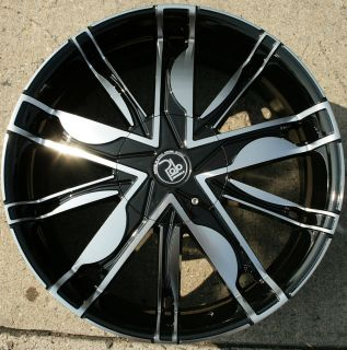 Maze PL1 20 Black Rims Wheels Ford Flex 09 Up 20 x 8 5 5H 38