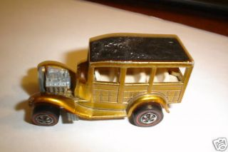 Hot Wheels Orig Red Line Classic 31 Ford Woody Gold