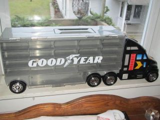 Goodyear Semi Truck Car Hauler Carrying Case 42 Cars Hot Wheels