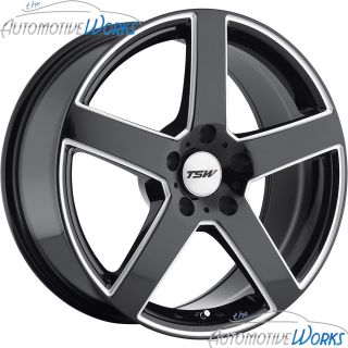 TSW Rivage 5x110 40mm Gloss Black Milled Rims Wheels inch 18