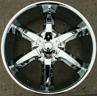 760 22 Chrome Rims Wheels Dodge Avenger 08 Up 22 x 8 5 5H 45
