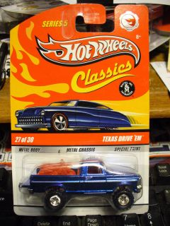Hot Wheels Classics Texas Drive Em Blue Chase Blue