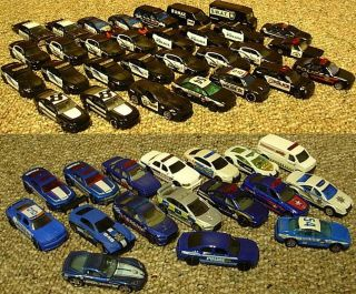 Huge Hotwheels Matchbox Police Lot of 47 Cars SWAT Truck Diecast 1 64