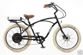 Cruiser Bicycle Bike Blackframe Black Rims Creme Balloon Tires