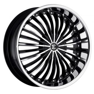 24 inch 2CRAVE NO19 Black Wheels Rims 6x5 5 Avalanche Silverado