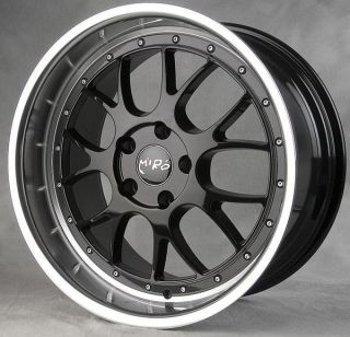 368 Staggered Wheels 5x120 Black Polish Lip Rims E46 E90 E92 BBS LMR