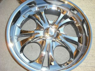 Boss Motorsports Brand Style 304 20 inch Chrome Rims Wheels