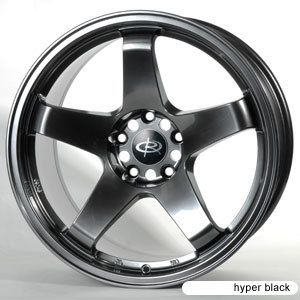 17 Rota P45 Hyper Black Rims Wheels 17x9 5 12 4x114 3