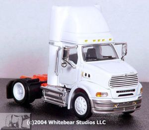 Sterling Day Cab Single Axle White Wheels 1 53 Scale