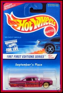 1997 Hot Wheels 517 59 Chevy Impala Lace Wheels