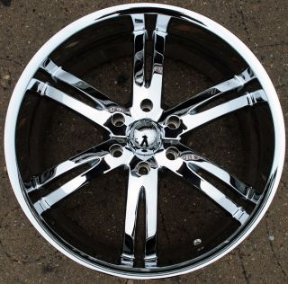 Akuza Dominion 701 22 Chrome Rims Wheels 22 x 9 5 Nissan Armada QX56