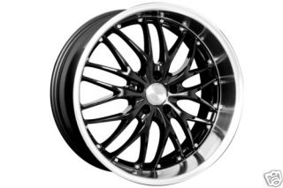 19 MRR Black GT1 Rims Wheels 19x8 5 45 5x114 3 TL CL