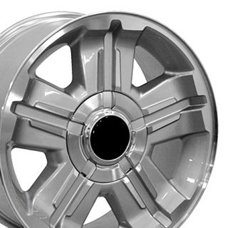 Silverado Z71 Replica Silver Machine Alloy Wheels Rims 18x8