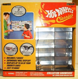 Hot Wheels Classics Collector Showcase 1 64 Scale Display Case Sealed