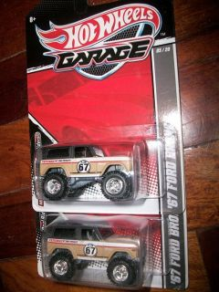 Hot Wheels Garage 67 Ford Bronco Case J 2 Pieces