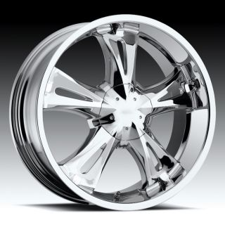 inch 20x9 Milanni Bitchin Chrome Wheels Rims 5x4 75 5x120 65 6