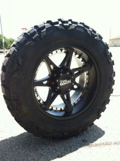 20 Black Rims Tires 6x139 Chevy GMC Tahoe 35 12 50 20 Nitto Mud