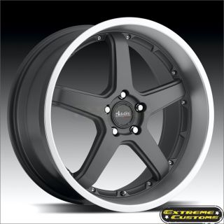 Advanti Racing Traktion 61MB Gun Metal 5 Lug Wheels Rims FREE LUGS