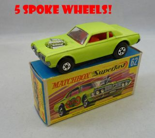 Matchbox Superfast MB62 Rat Rod Dragster with 5 Spoke Wheels