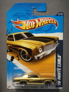 HOT WHEELS MUSCLE MANIA GM 12 70 MONTE CARLO #7 DIECAST CAR NEW