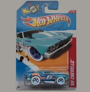 2012 Hot Wheels Thrill Racers Ice 69 Chevelle 1 5 Blue 211 247 New