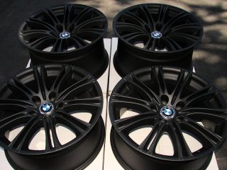 Rims Matte Black BMW M5 M6 528 M3 550 525 530 545 5 Lug Effect Wheels