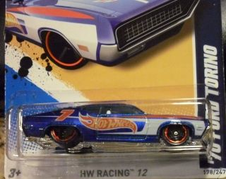 Hot Wheels 2012 70 Ford Torino 178 247 New