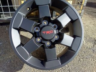 FJ Cruiser New Factory TRD 16 Alloy Black Trail Team Wheels X4