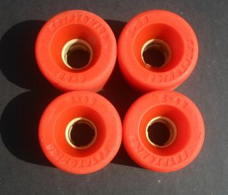 65 Red Skateboard Wheels 70s Dogtown Alva Sims G s Bones